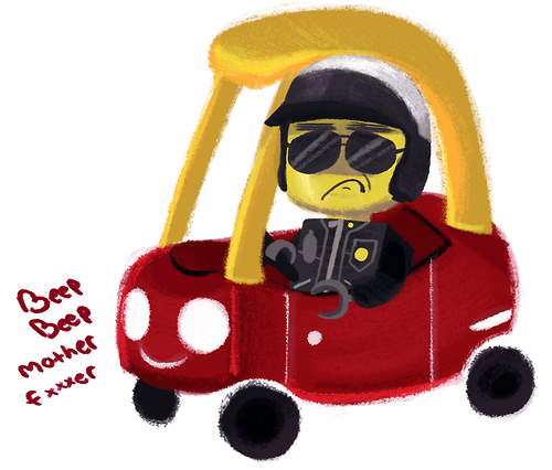 500x426 Beep Beep, Bad Cop's Coming Through The Lego Movie Know Your Meme