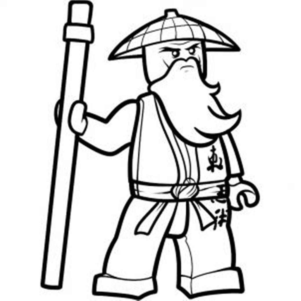 Jay Ninjago Printable Coloring Pages | 1039x1039
