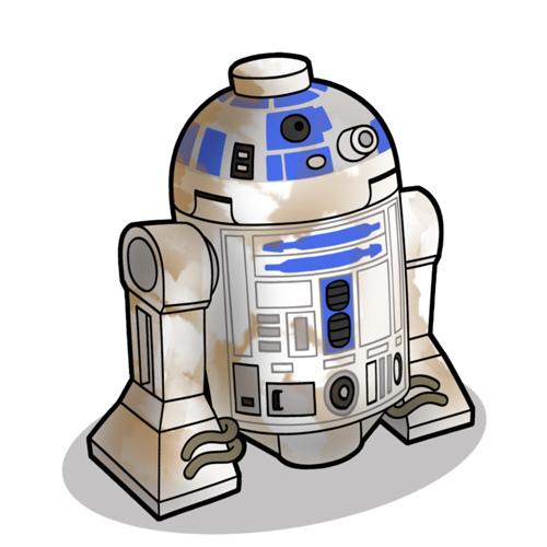 500x500 Lego R2 D2 Sketch Lego Starwars R2 D2, Lego