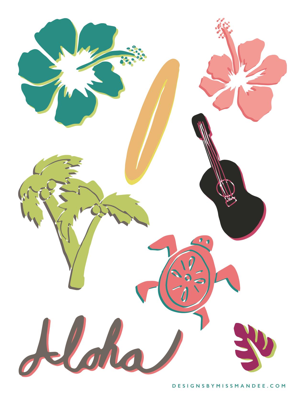 1275x1650 Leis With And Hawaiian Clip Art