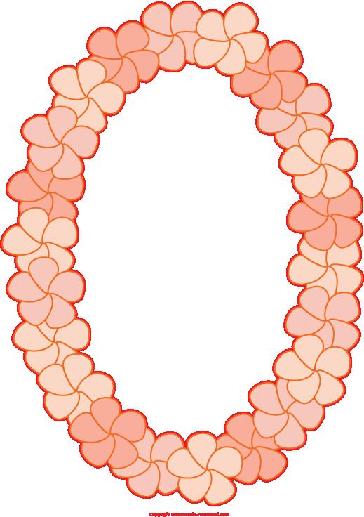 519x736 Maile Lei Clip Art
