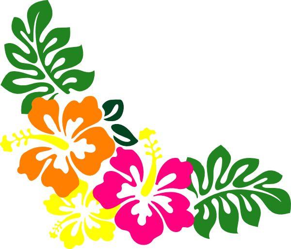 600x514 Tropical Clipart Lei Flower