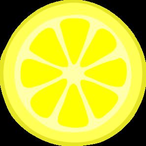 297x297 Lemon Slice Clip Art