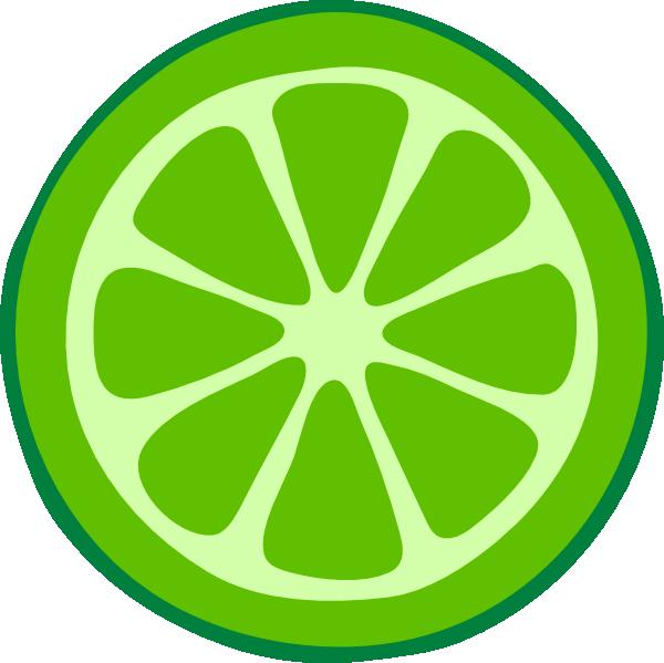 600x599 Lime Slice Clip Art