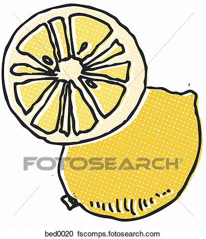 405x470 Stock Illustrations Of Lemon Slice Bed0020