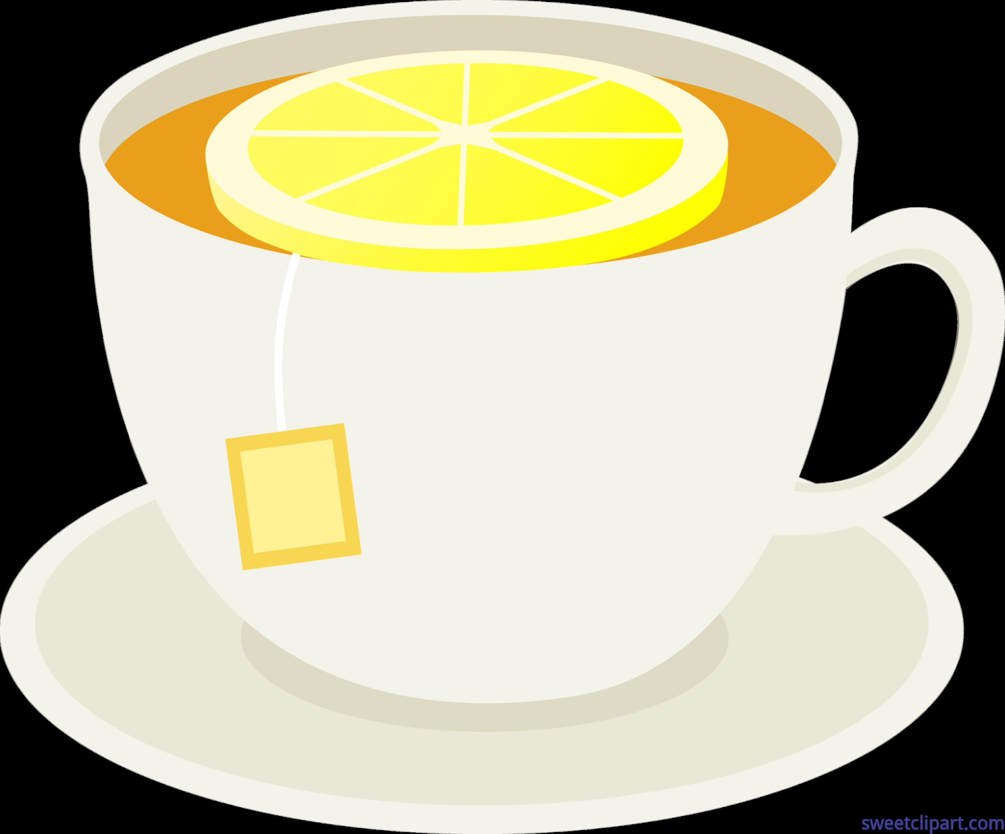 4173x3462 Cup Tea Lemon Slice Clip Art