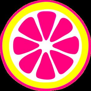 297x297 Hot Pink Lemon Slice Clip Art