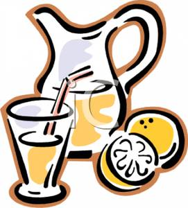 271x300 Pitcher And Glass Of Lemonade Clipart Image