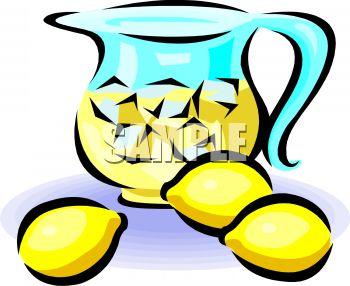 350x286 Pitcher Of Lemonade With Lemons