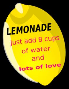 234x299 Lemonade Favor Tag Clip Art