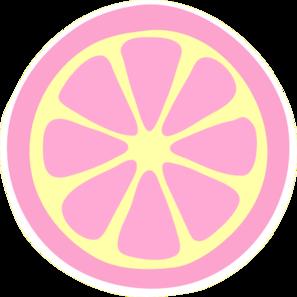 297x297 Pinky Lemonade Slice Clip Art