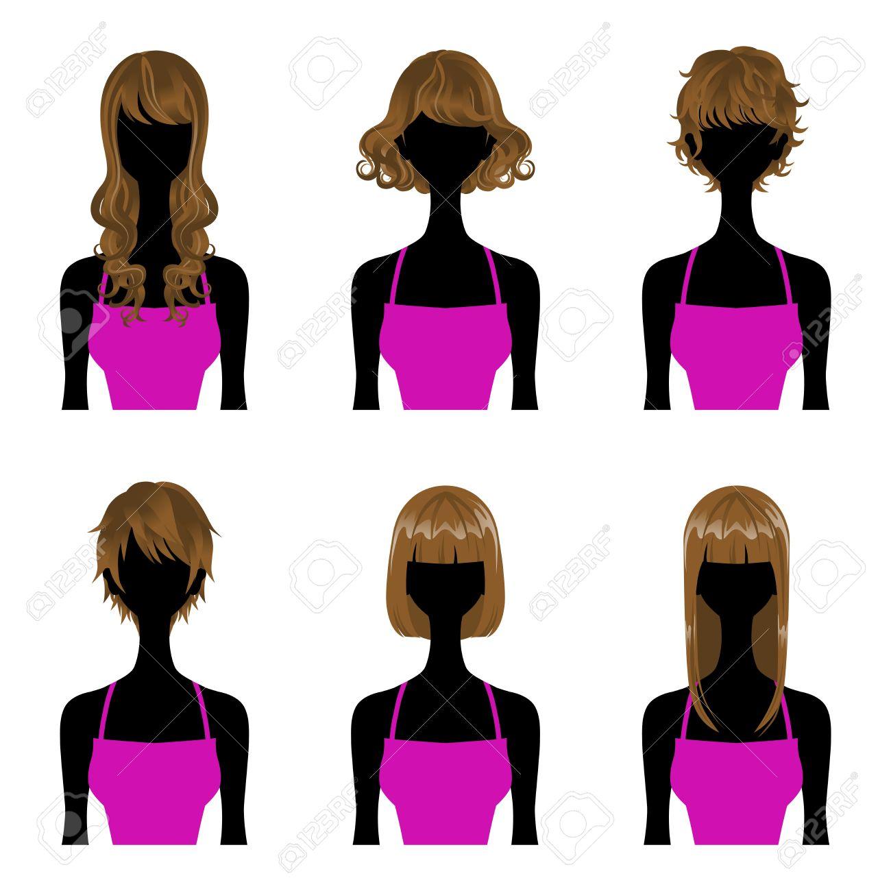 1300x1300 Long Hair Clipart Straight Hair