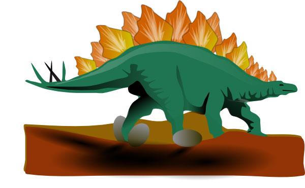 600x370 Stegosaurus Clip Art
