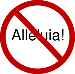 299x297 Alleluia! Prohibited During Lent Clip Art