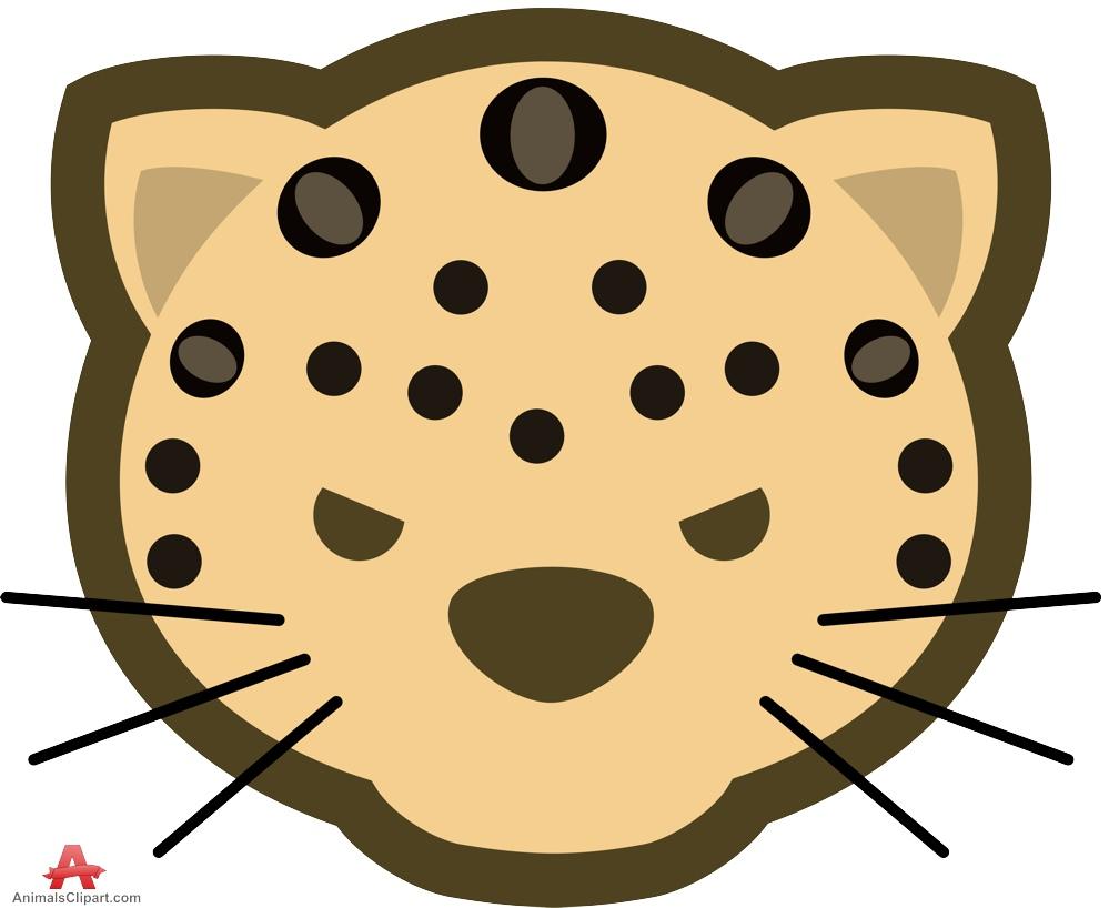 999x818 Leopard Clipart Leopard Face