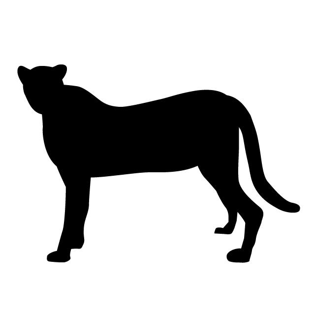 640x640 Leopard Animal Silhouette Free Illustrations
