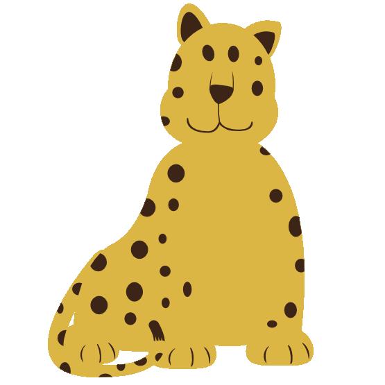 555x555 Leopard Clipart Christmas