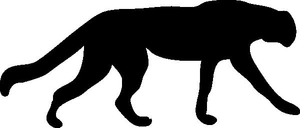 600x257 Leopard Clipart Silhouette