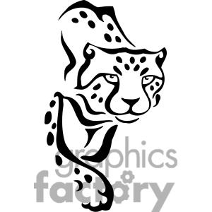 300x300 Cheetah Face Clip Art Cliparts