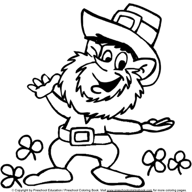 660x660 St Patrick39s Day Leprechaun Coloring Pages Gtgt Disney