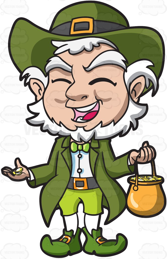 Leprechaun Clipart Black And White   Free download on ...