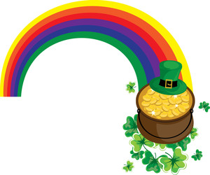 300x250 Pot Of Gold Clipart Image