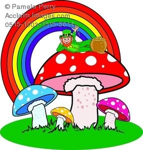 286x300 Art Image Of A Leprechaun Sitting On Magic Mushrooms