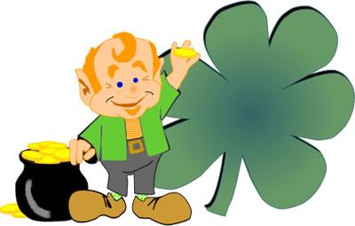 400x255 St. Patrick's Day Clip Art Leprechaun
