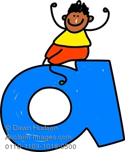 247x300 Image Of Happy Little Boy Climbing Over Giant Letter