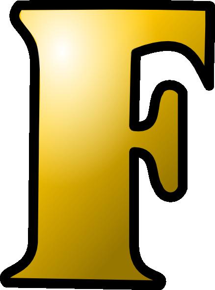 438x592 Letter F Icon Clip Art Free Vector 4vector