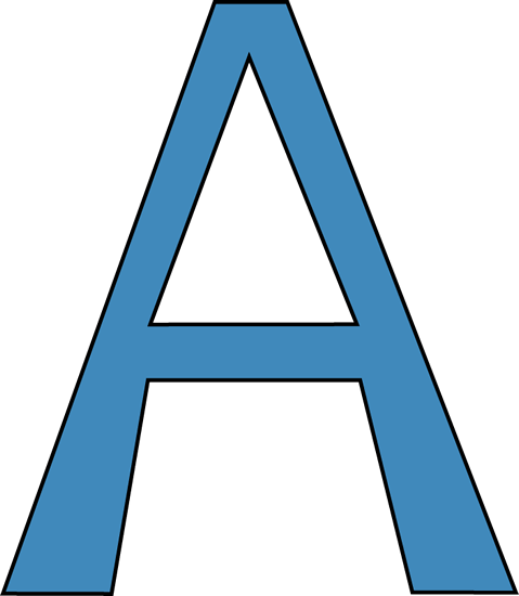 479x550 Letter Clipart Capital Letter