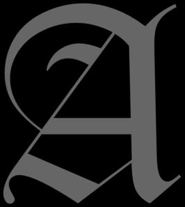 266x297 Alphabet Letter A Clip Art