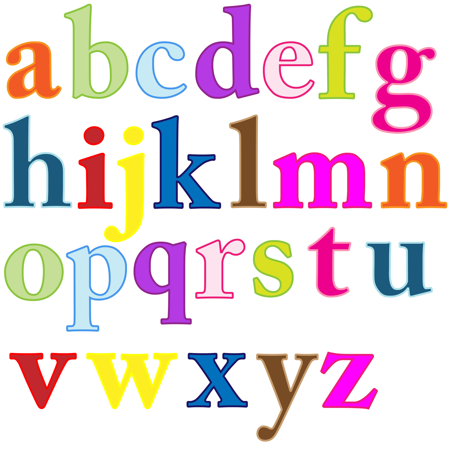 1920x1920 Alphabet Letters Clip Art Free Stock Photo