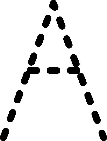 456x599 Alphabet Tracing Letter A Clip Art