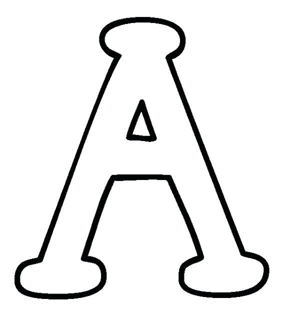 564x658 Letter Coloring Pages The A Page