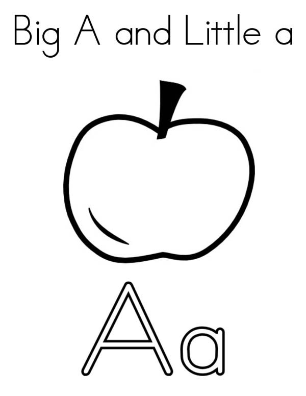600x776 Other Letter A Coloring Pages A Is For Apple Letter A Coloring
