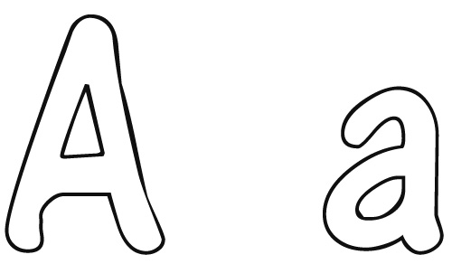 500x292 Preschool Letter A Coloring Pages