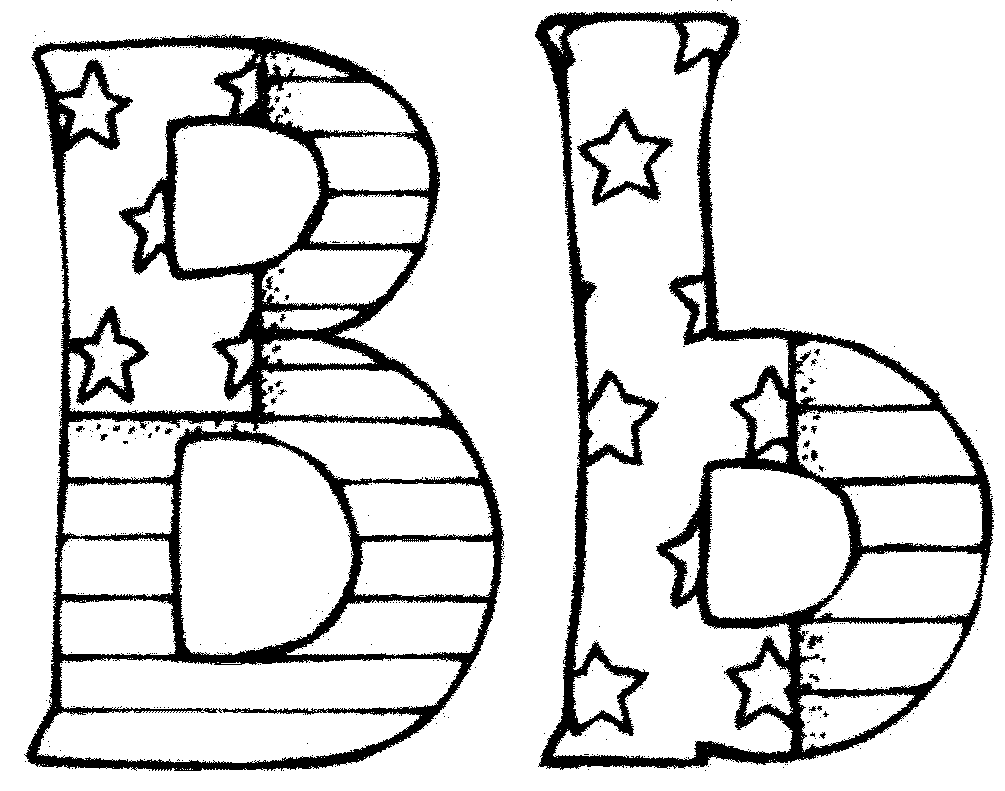 Letter coloring pages for adults