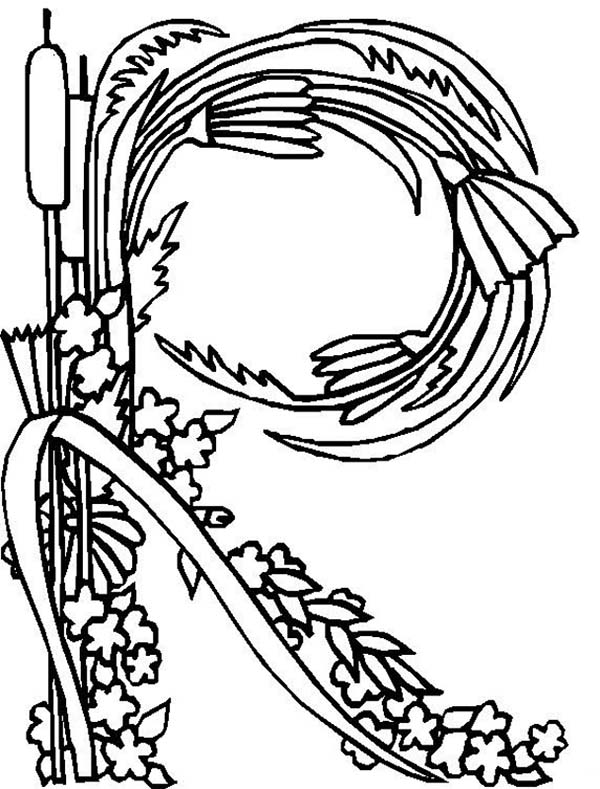 600x789 Alphabet Flowers Letter R Coloring Pages Zentangled