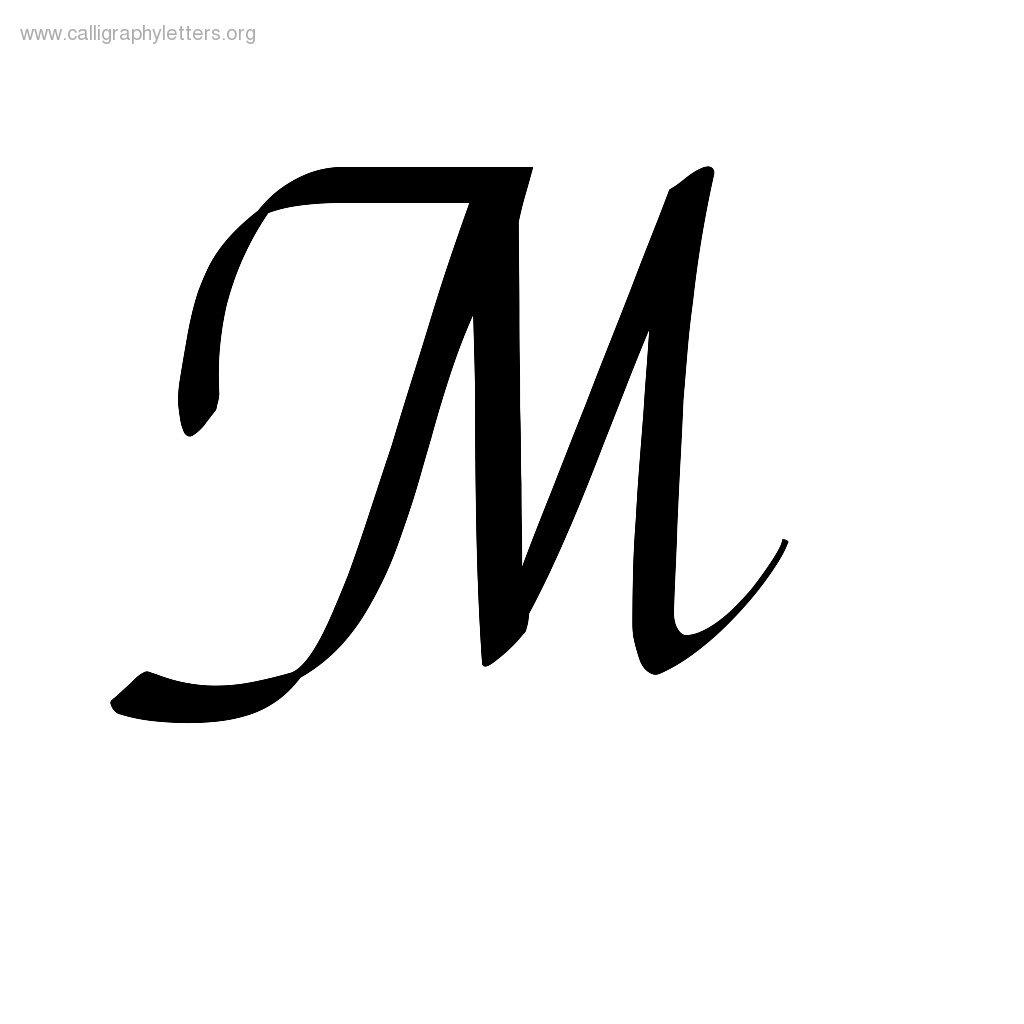 1024x1024 Fancy Cursive Letter M Letters Example