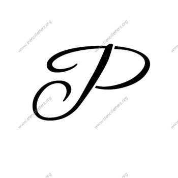350x350 Flowing Cursive Uppercase Amp Lowercase Letter Stencils A Z 14