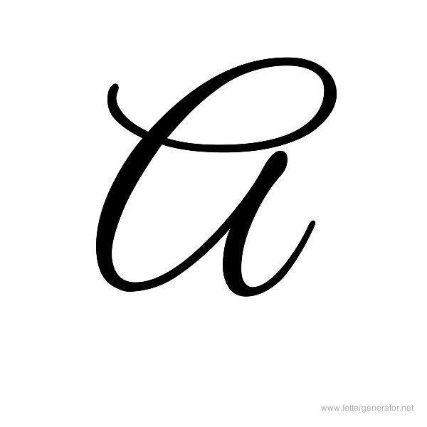 600x600 Letter A In Cursive