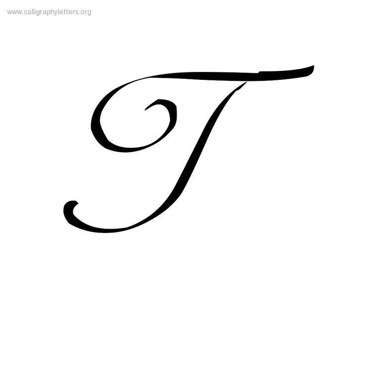 736x736 Letter T In Cursive