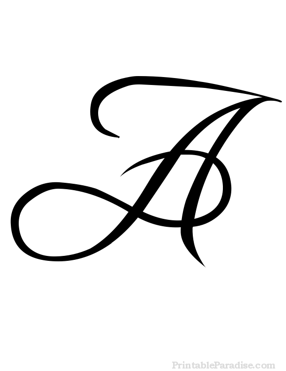 580x751 Printable Letter A In Cursive Writing Craft Ideas To Try