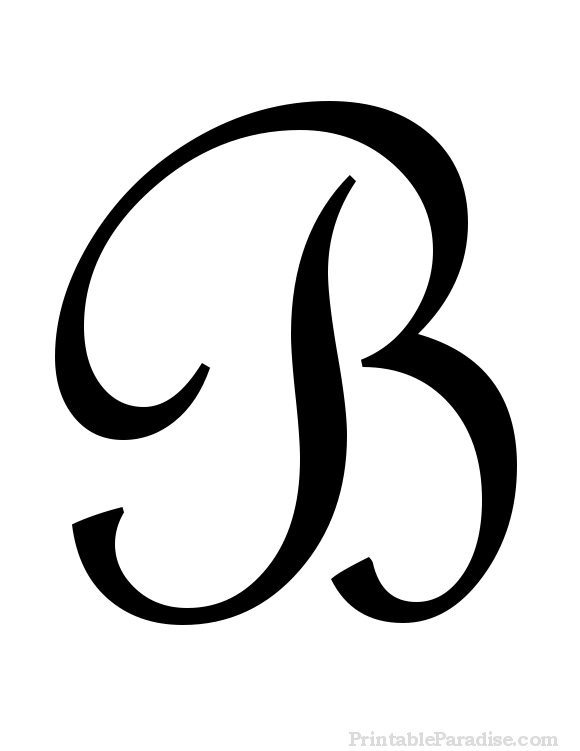 580x751 Printable Letter B In Cursive Writing Ideas