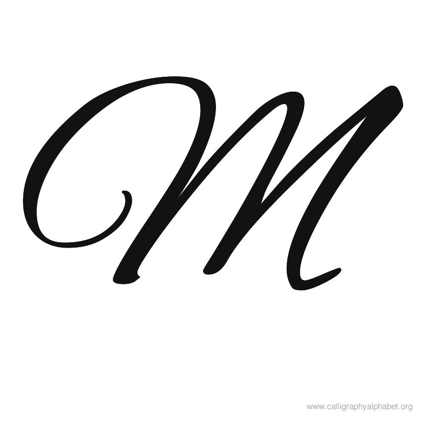 850x850 Calligraphy Alphabet M Sample Styles