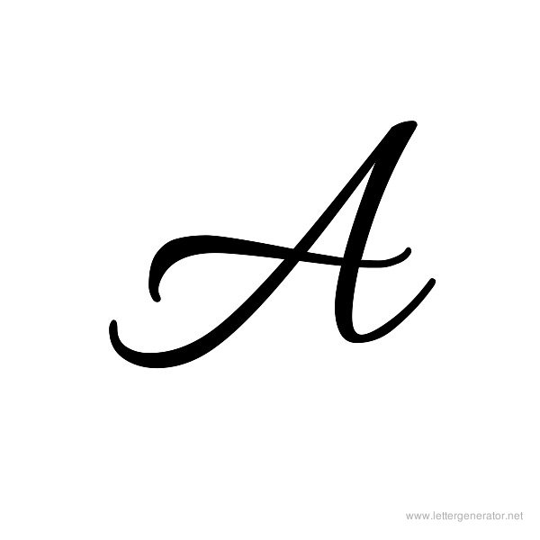 Letter A In Cursive | Free download best Letter A In Cursive ...