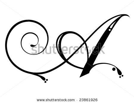 450x346 A Letter Tattoo Designs