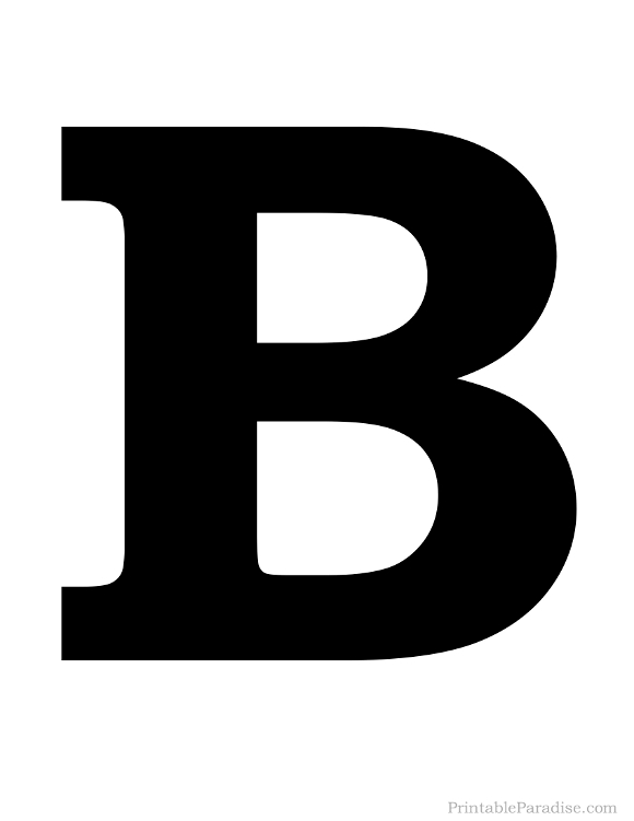 580x751 Letter B Black And White Letters Example