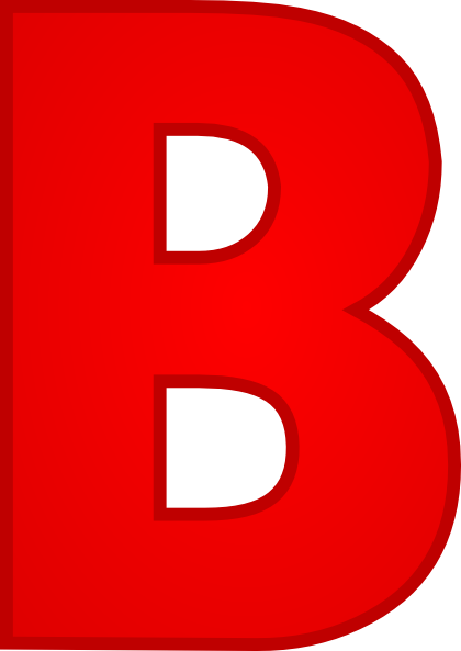 420x593 Letter B Clipart